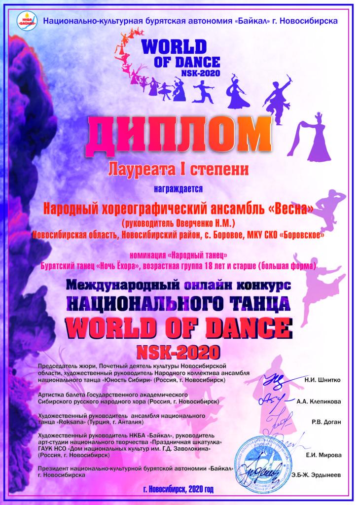 Народный хореографический ансамбль «Весна», Бурятский танец «Ночь ёхора»,1 ст., НТ, 18+